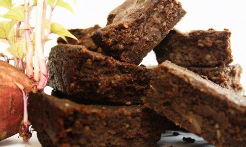 Healthy sweet potato brownies